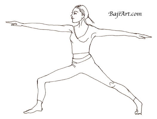 Most commonly referred to as Warrior pose, this Yoga pose is one of many that helps surfers balance and alignment. Give it a try!