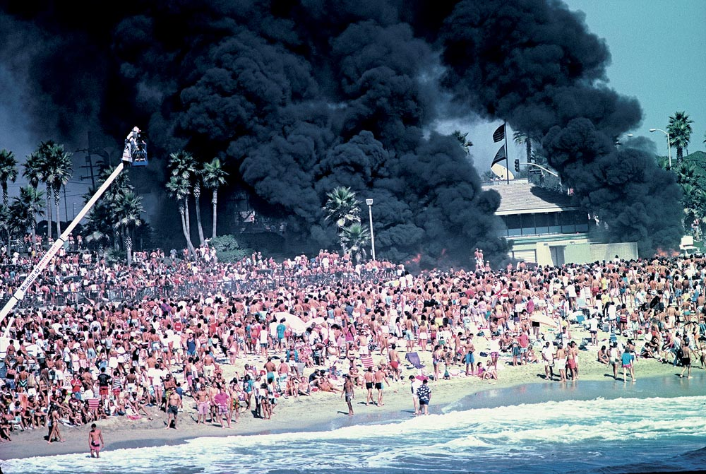 On Aug. 31 1986, the OP Pro broke out with a rash of fires, vandalism and riots.