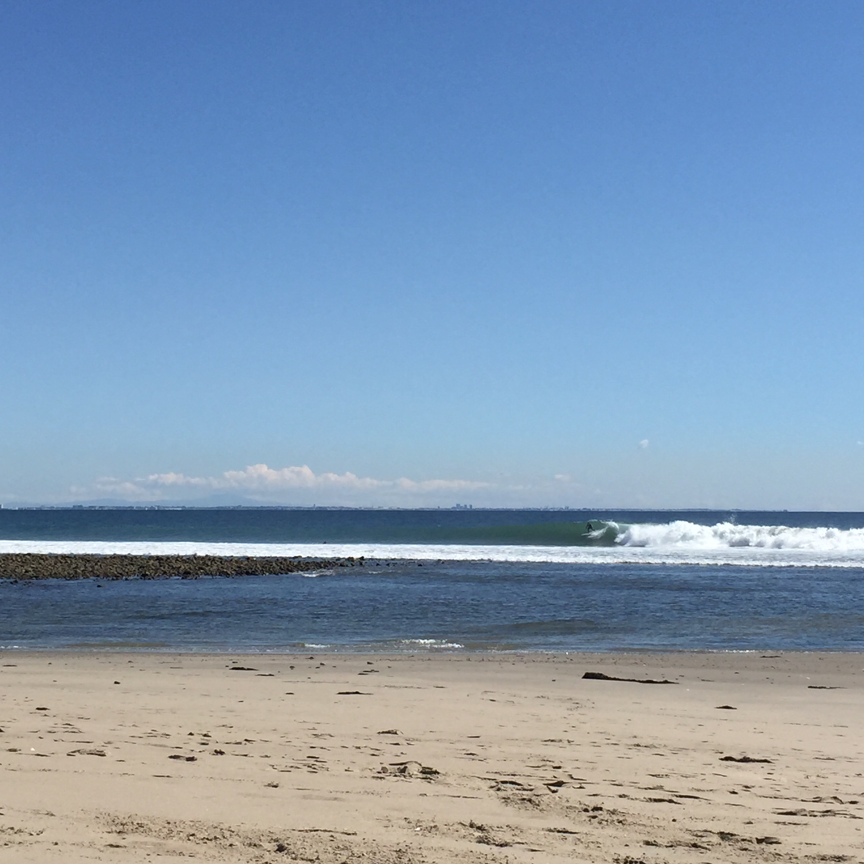 The iconic Malibu-second point during a recent swell.