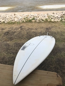 "Channel Islands/Al Merrick's 5'8"" epoxy flyer."