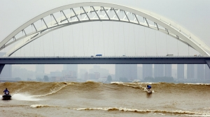 Reminds me of a certain man-made wave in kicker country. Photo: npr.com