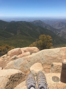 Taking in the views of the Cleveland National Forest.