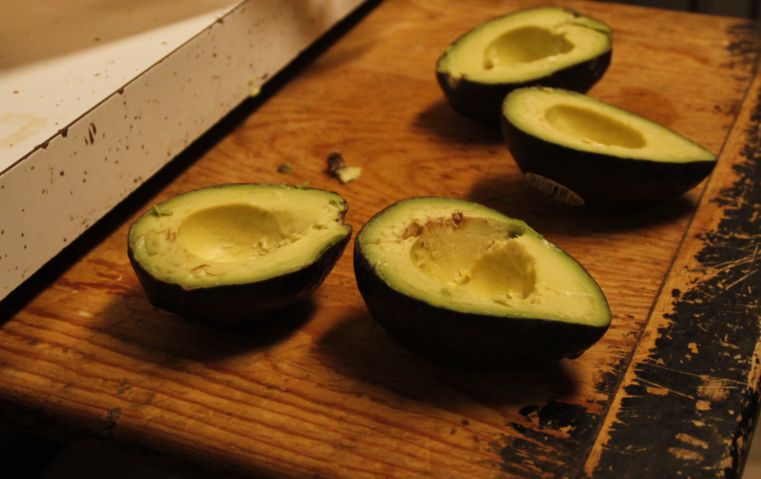 Avocado--The beginning of a very chocolaty relationship.