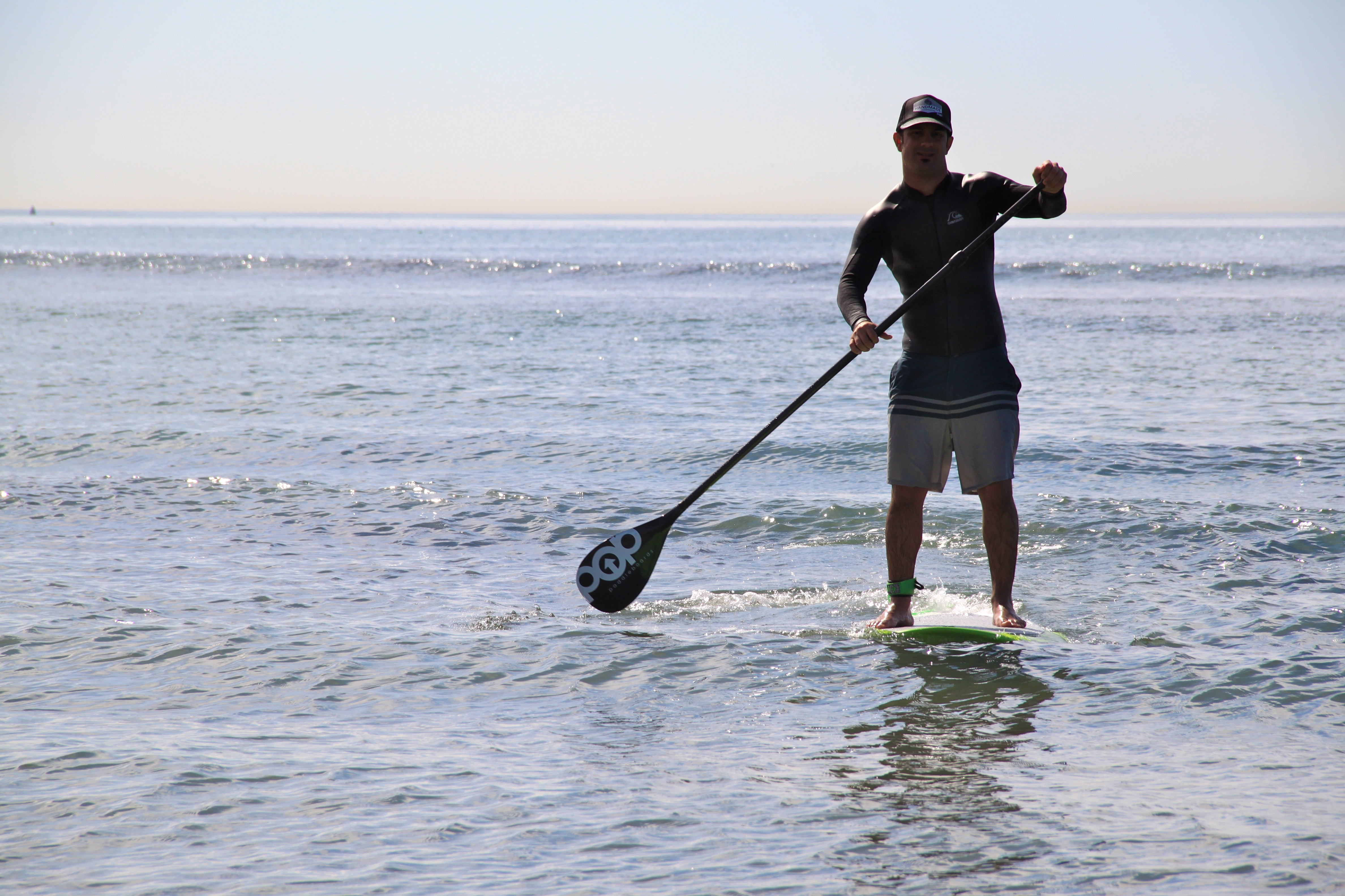 Stand Up Paddleboarder Nick Lanfranco stays in shape during a severe wave drought.