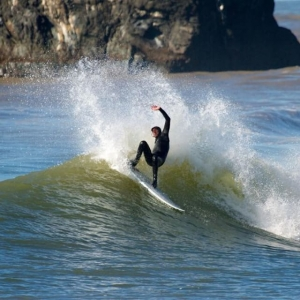 Royce Fraley hacking a little off the top in Northern California. Photo by: Patrick Parks