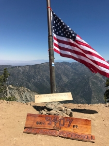 Mt. Baden-Powell summit, as my toes live and breathe.
